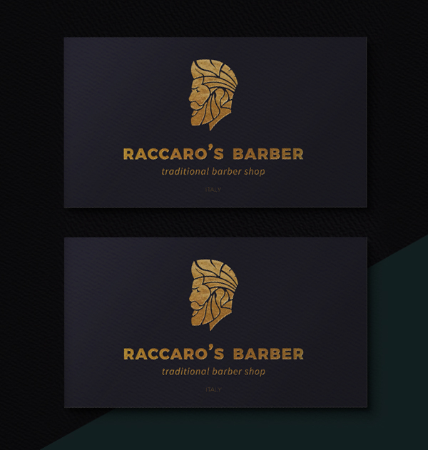 Branding: Raccaro's Barber - Business Card