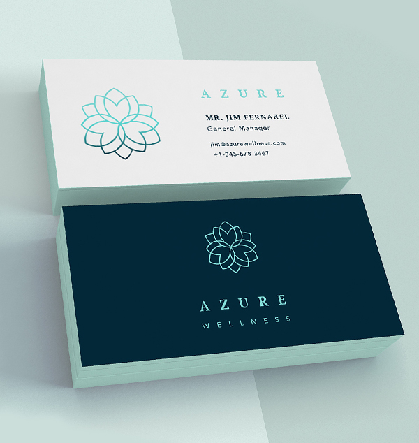 Branding: Azure - Business Card