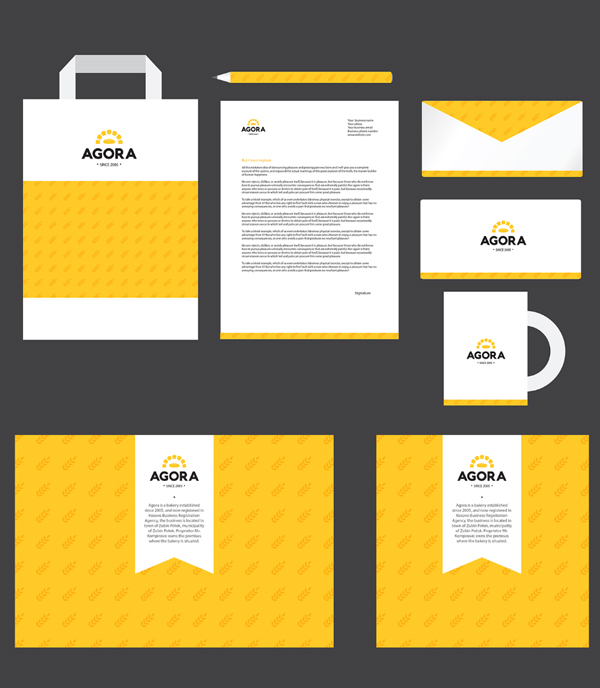 Branding: Agora - Stationary Items