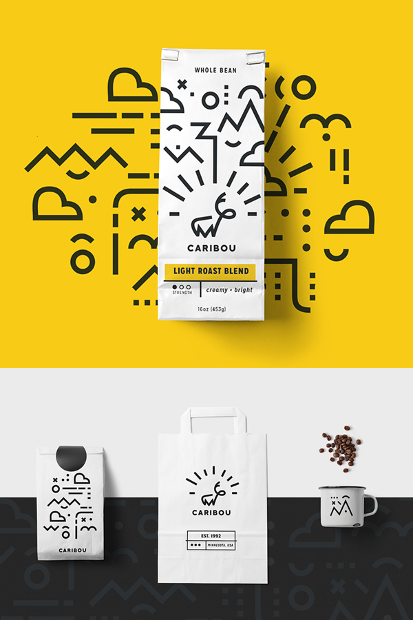 Branding: Caribou Coffee - Stationary Items