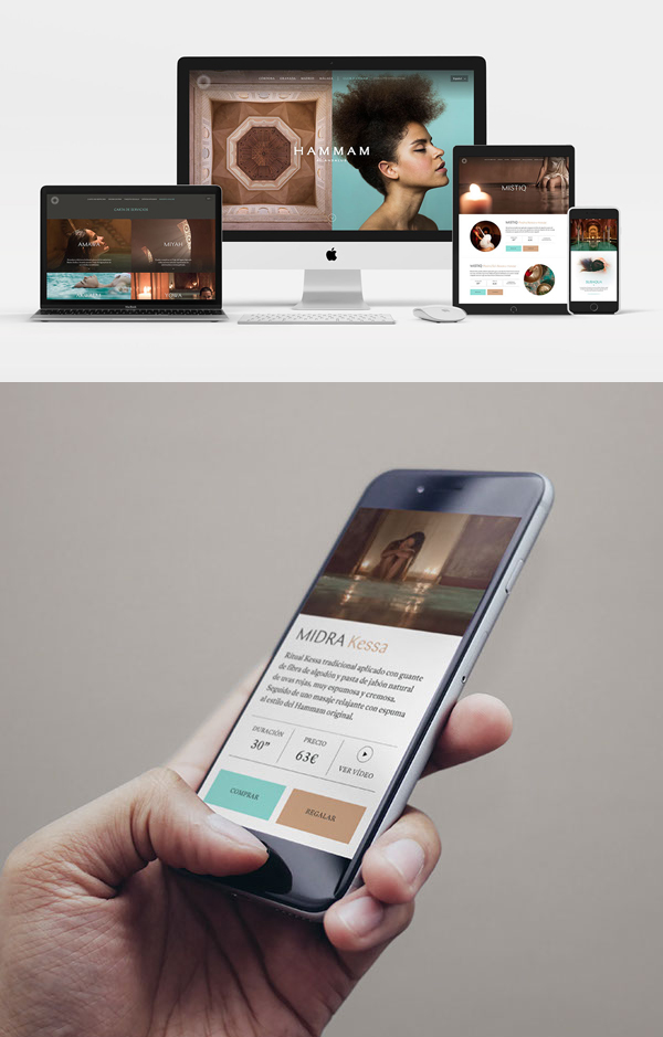 Branding: HAMMAM AL ÁNDALUS - Website Design