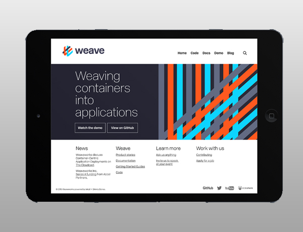 Branding: Weaveworks - Website Design