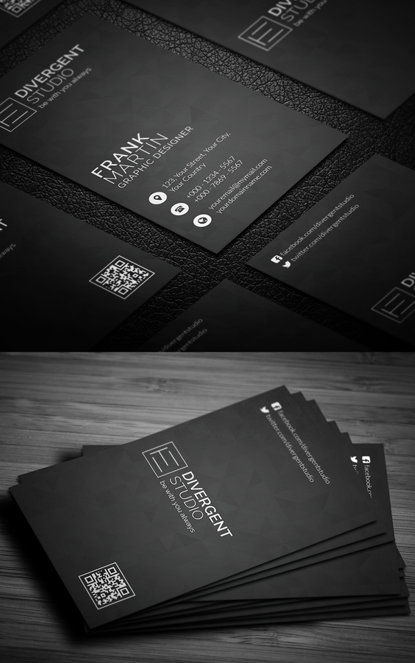 27 new professional business card psd templates idevie. Black Bedroom Furniture Sets. Home Design Ideas