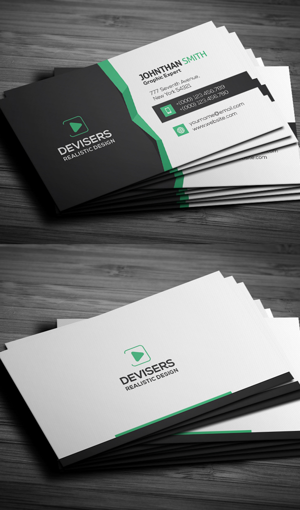 27 New Professional Business Card PSD Templates - iDevie
