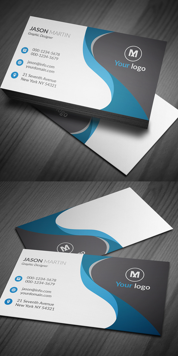 Corporate Business Card AI & EPS Design