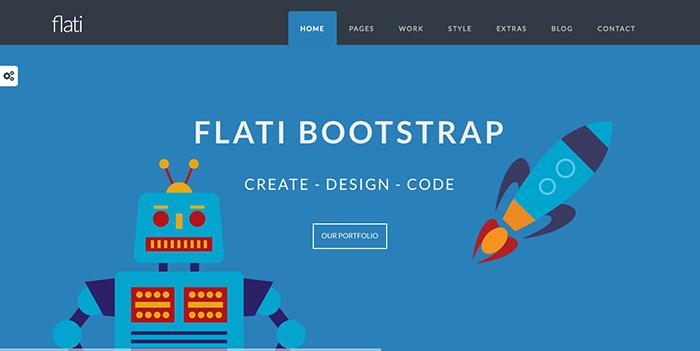 flati bootstrap themes 2017