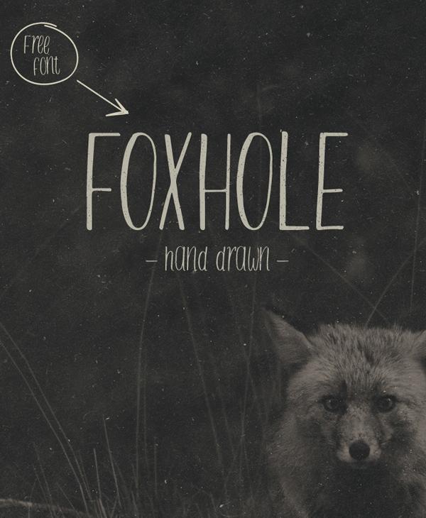 FOXHOLE Free Brush Font