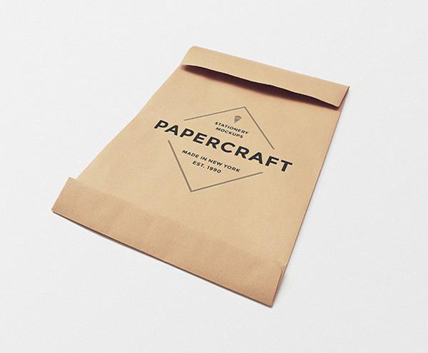 Free Big Papercraft Envelope Mockup