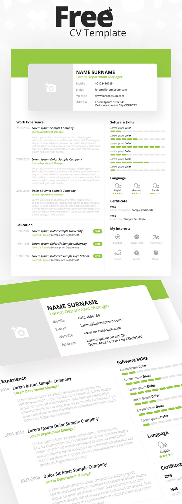 Modern Style Free Resume Template