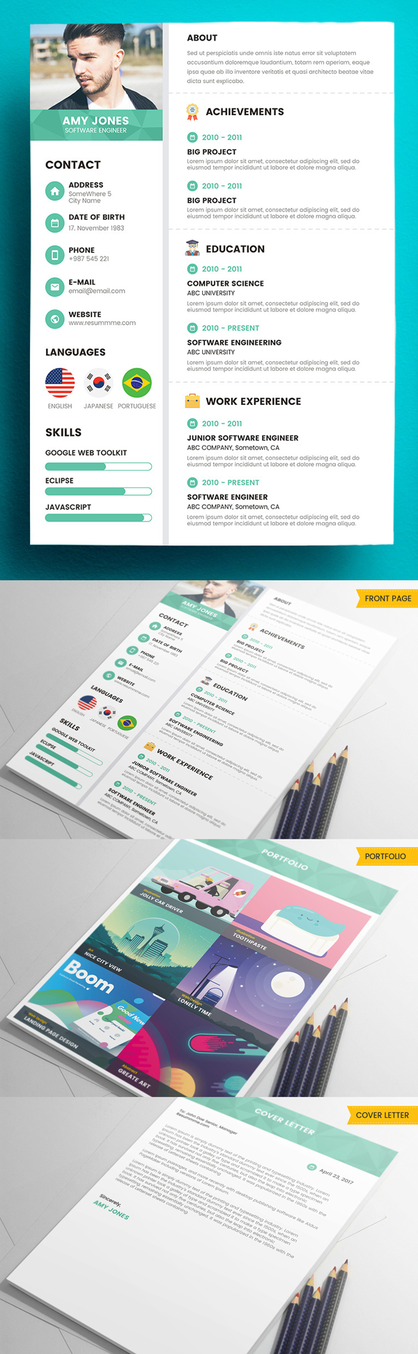 Corporate Free Resume Template