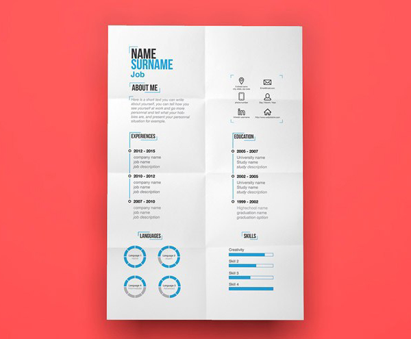 Free Minimal Resume Template (Illustrated File)