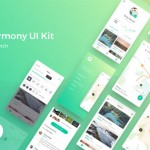 Harmony: Sketch UI kit for map-based apps
