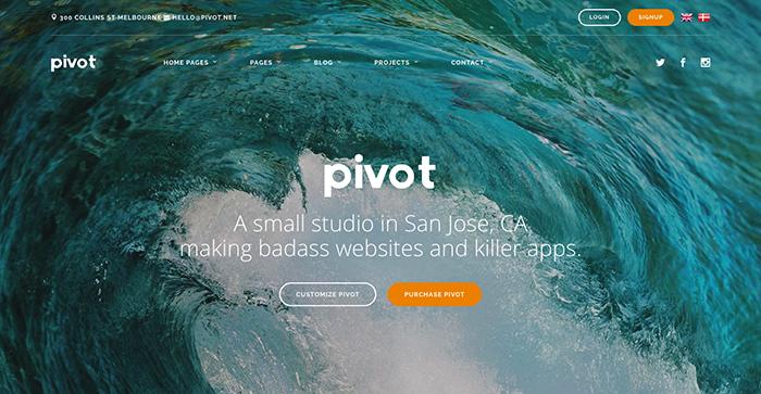 pivot bootstrap themes 2017