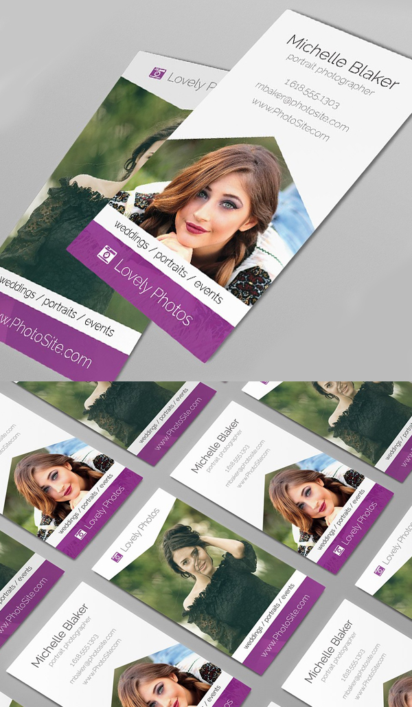 Material Design Photographer Business Card