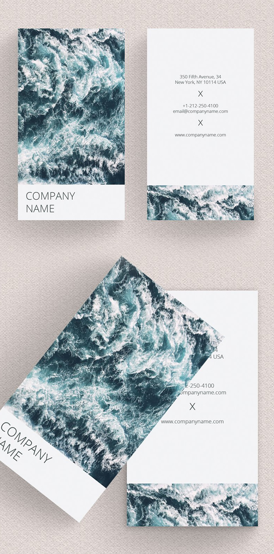 Vertical Photographer Business Card