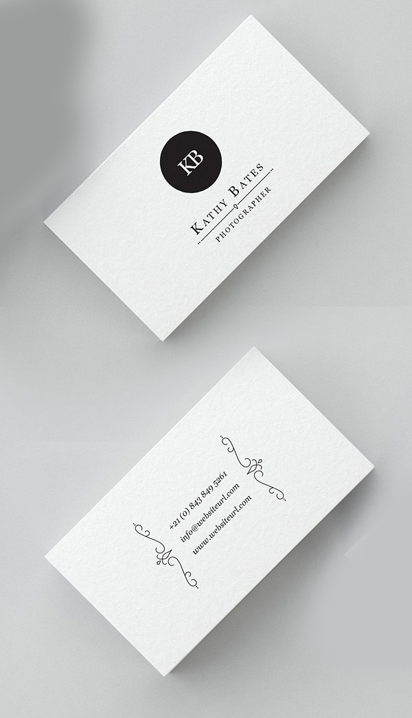 Minimal Photography Business Card