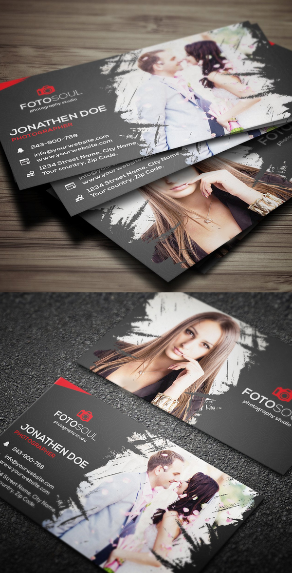 Dark Photography Business Card Template