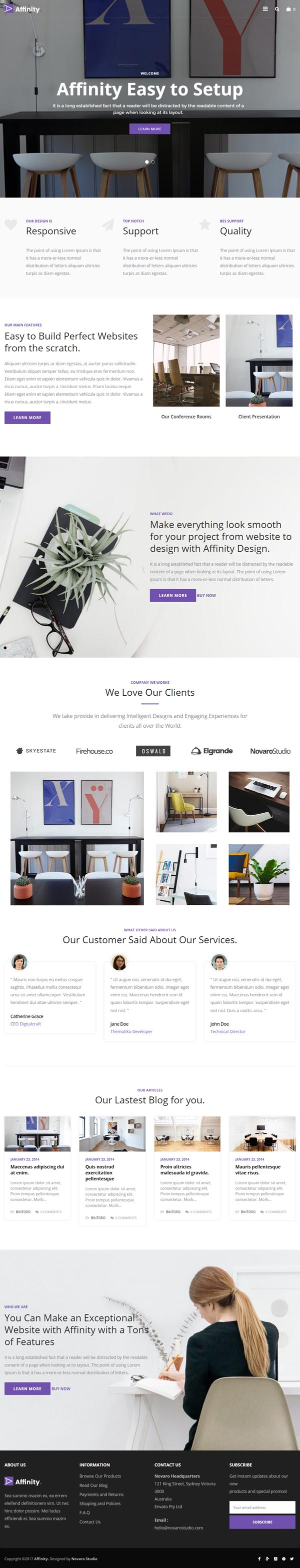 Affinity – Furniture & Interior Shop WordPress Theme