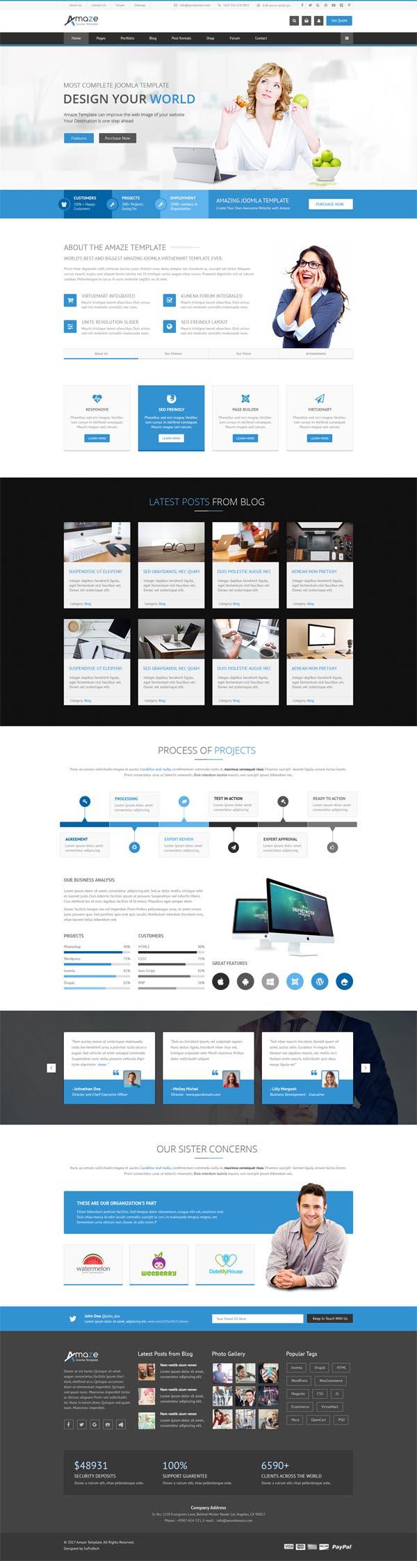 Amaze – Corporate Responsive Multi-Purpose WordPress Theme