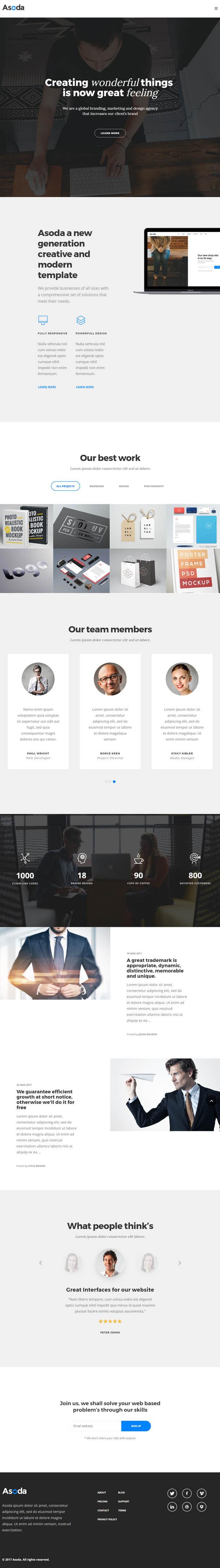 Asoda – A Multipurpose WordPress Theme