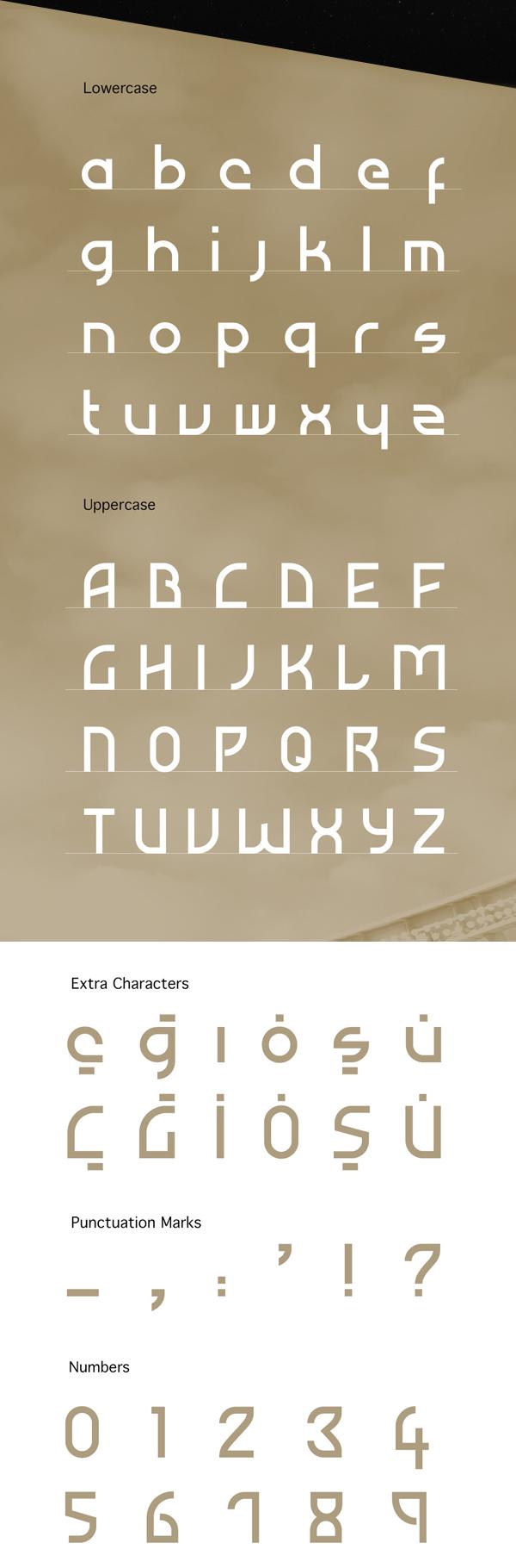 Atiba Font Letters