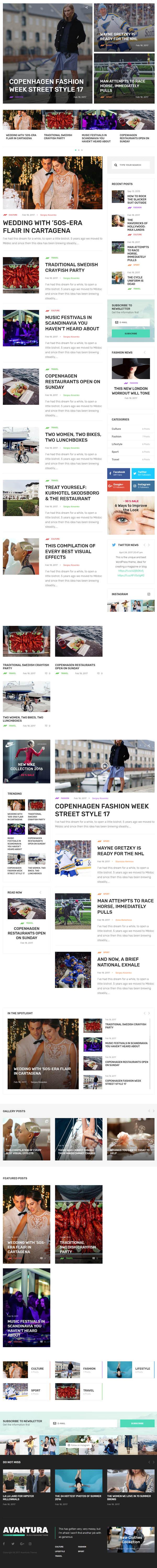 Avantura – Magazine & Blog WordPress Theme