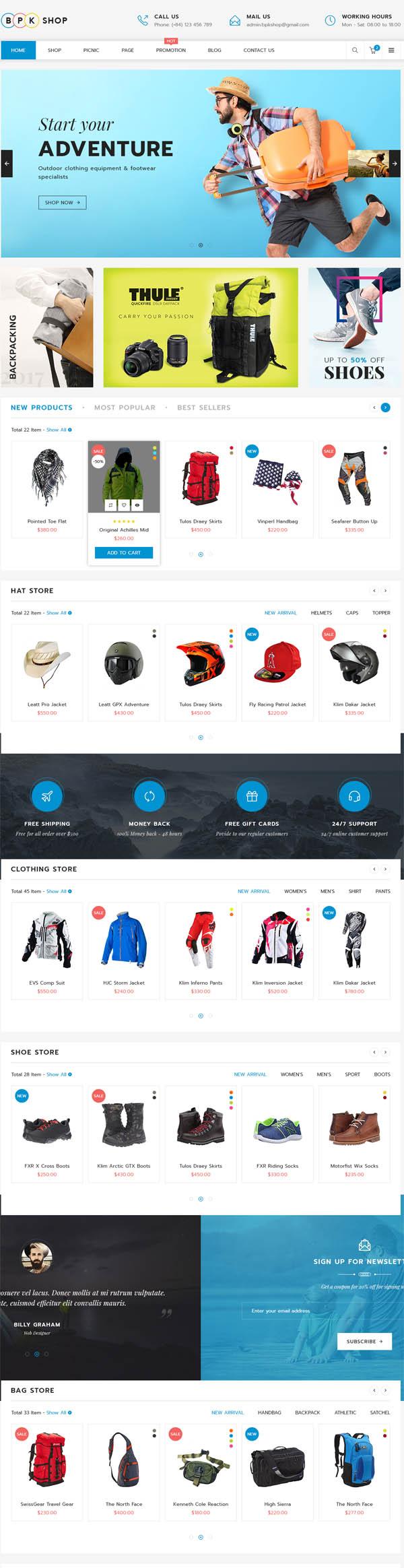 BPK Shop – WooCommerce Responsive Theme
