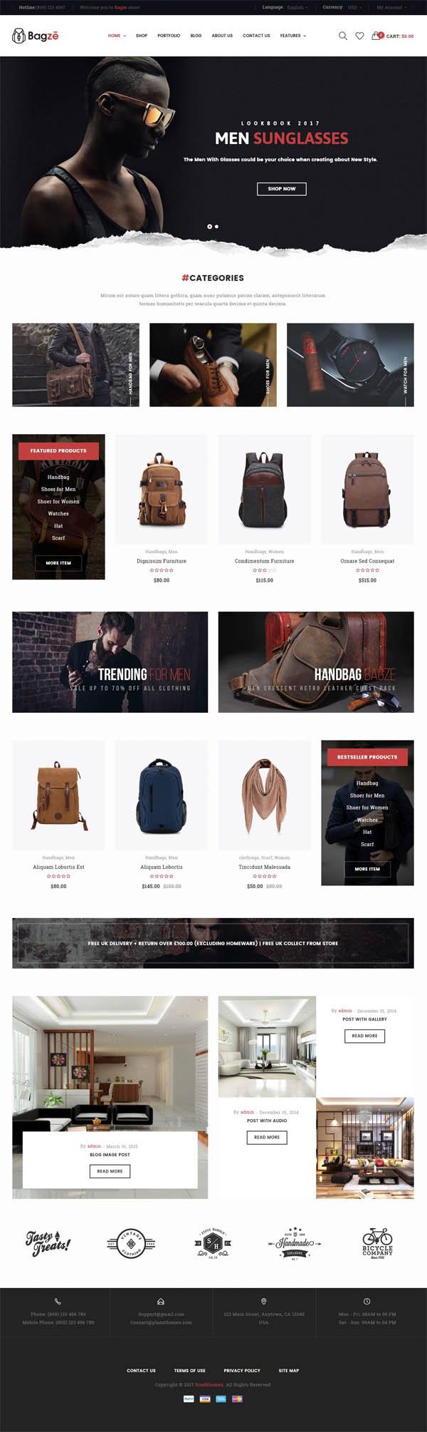 Bagze – Bag Shop WooCommerce WordPress Theme