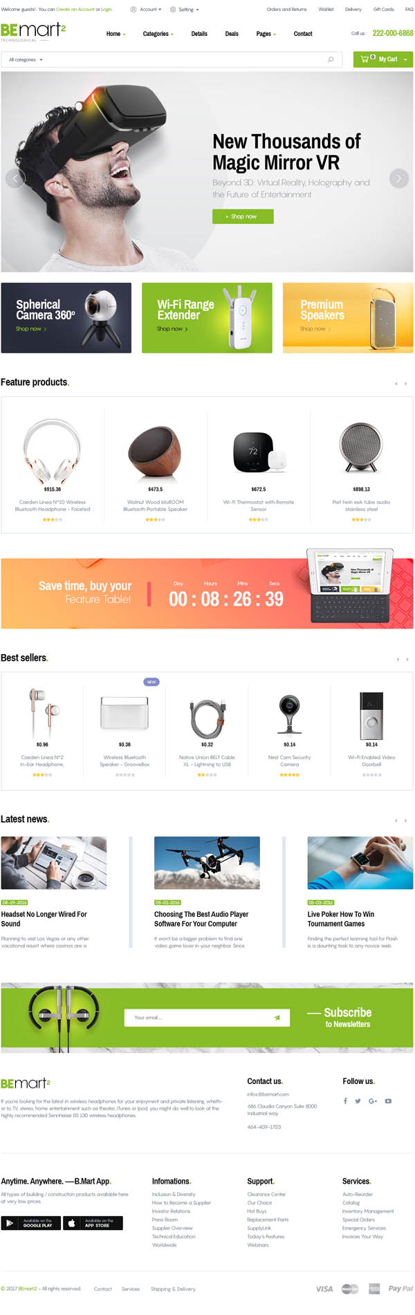 Bemart – WooCommerce Multipurpose WordPress Theme