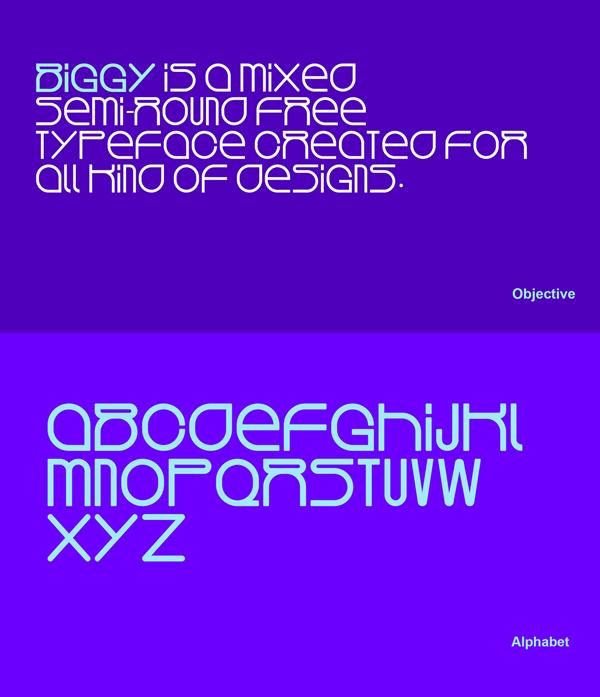 Biggy Font Letters