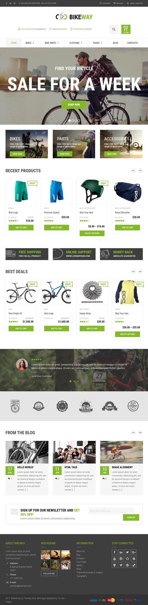 Bikeway – Sport Shop WooCommerce Theme