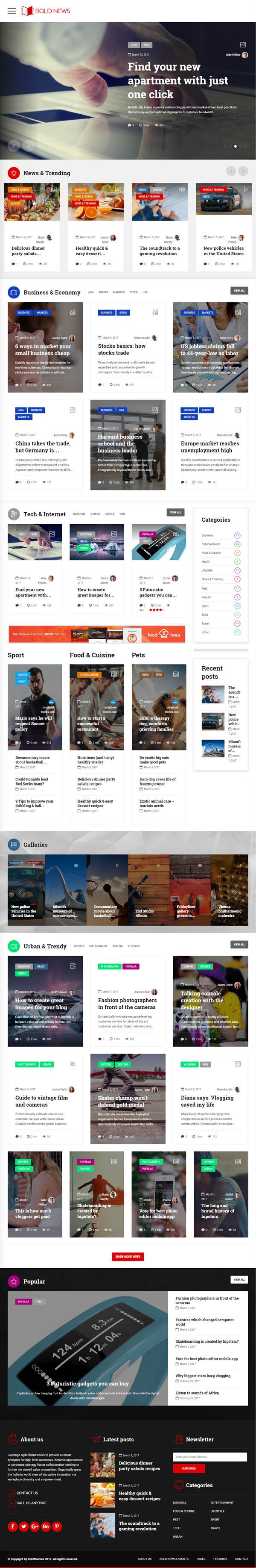 Bold News – Magazine & News WordPress Theme