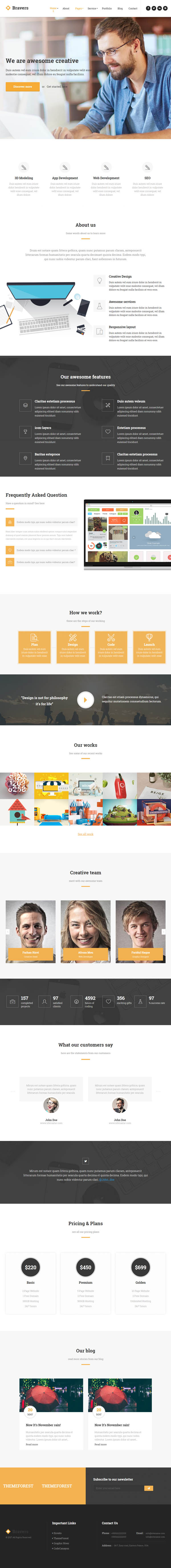 Bravers – Multipurpose WordPress Theme