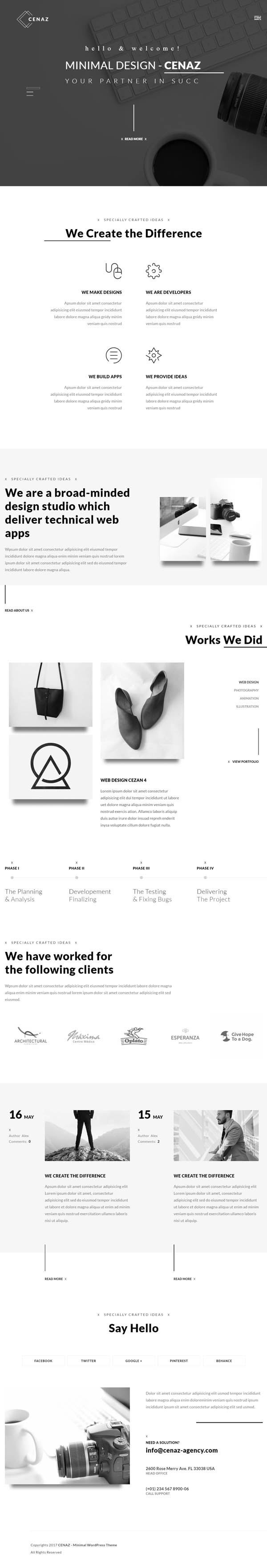 CEZAN – Minimal Multipurpose WordPress Theme