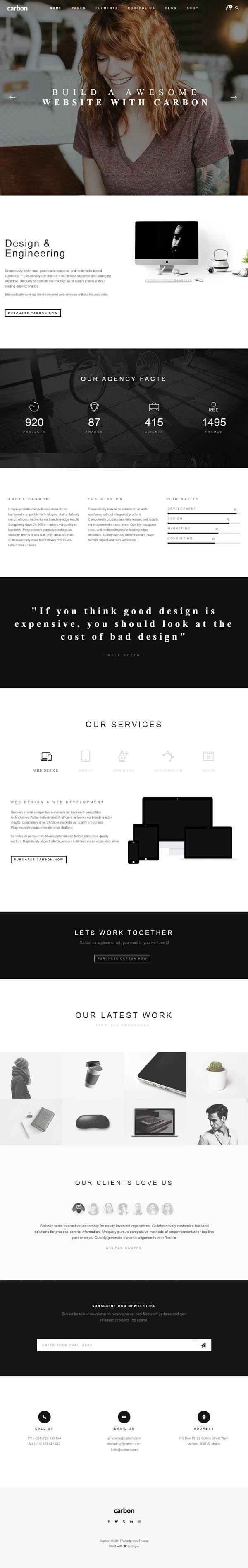 Carbon – Clean Minimal Multipurpose WordPress Theme