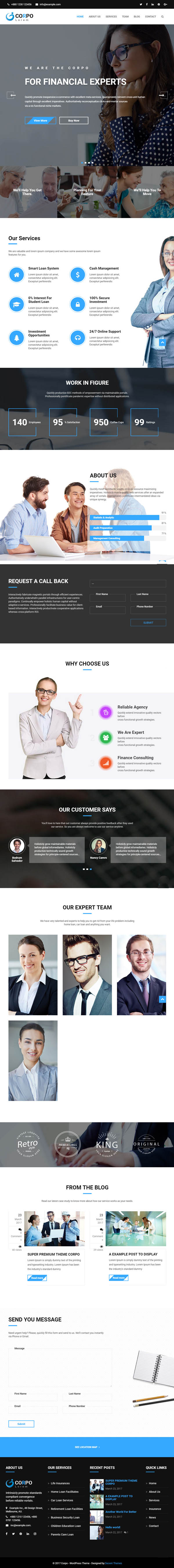 Corpo – Modern Business and Corporate Theme For WordPress