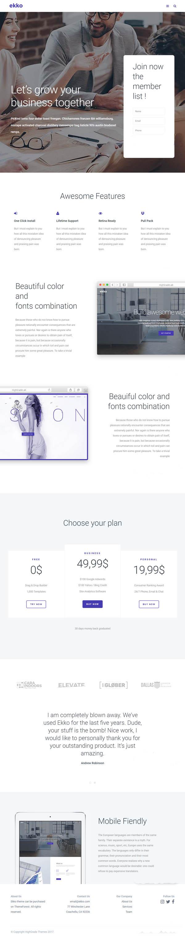 Ekko – Business MultiPurpose WordPress Theme