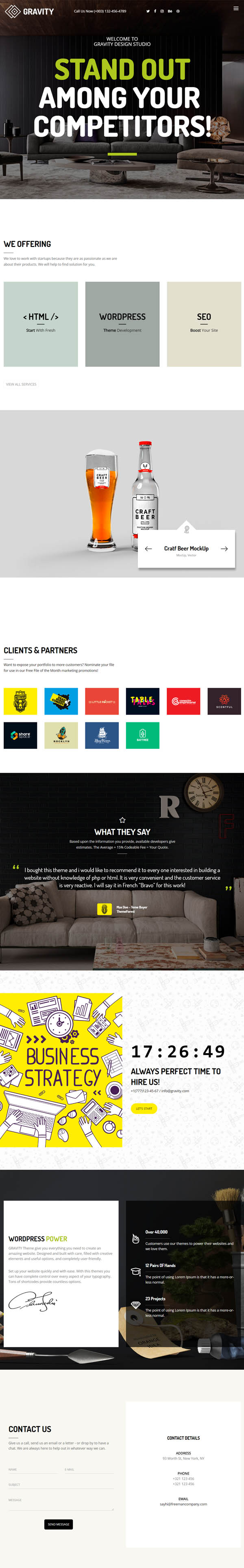Gravity – Creative Agency & Presentation Theme