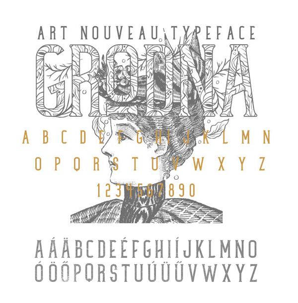 Grodna Font Letters
