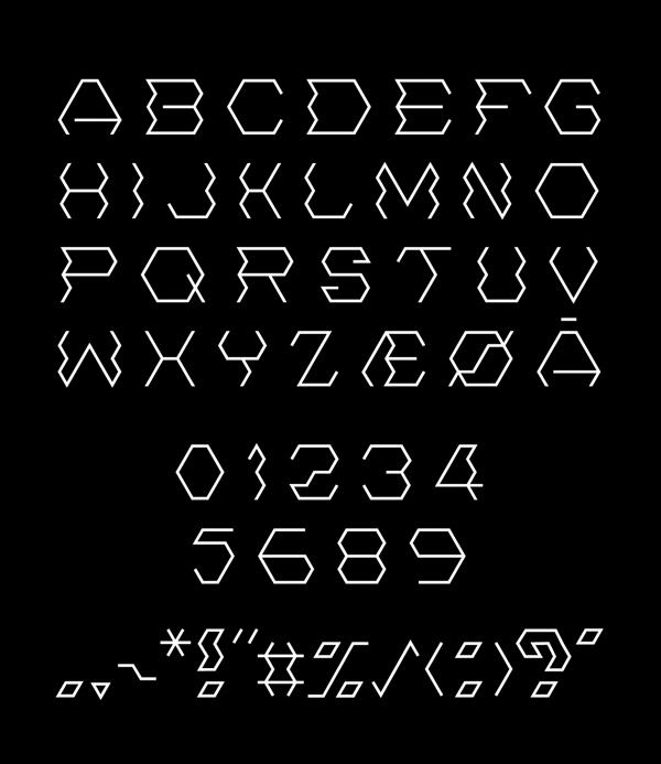Hexonny Font Letters