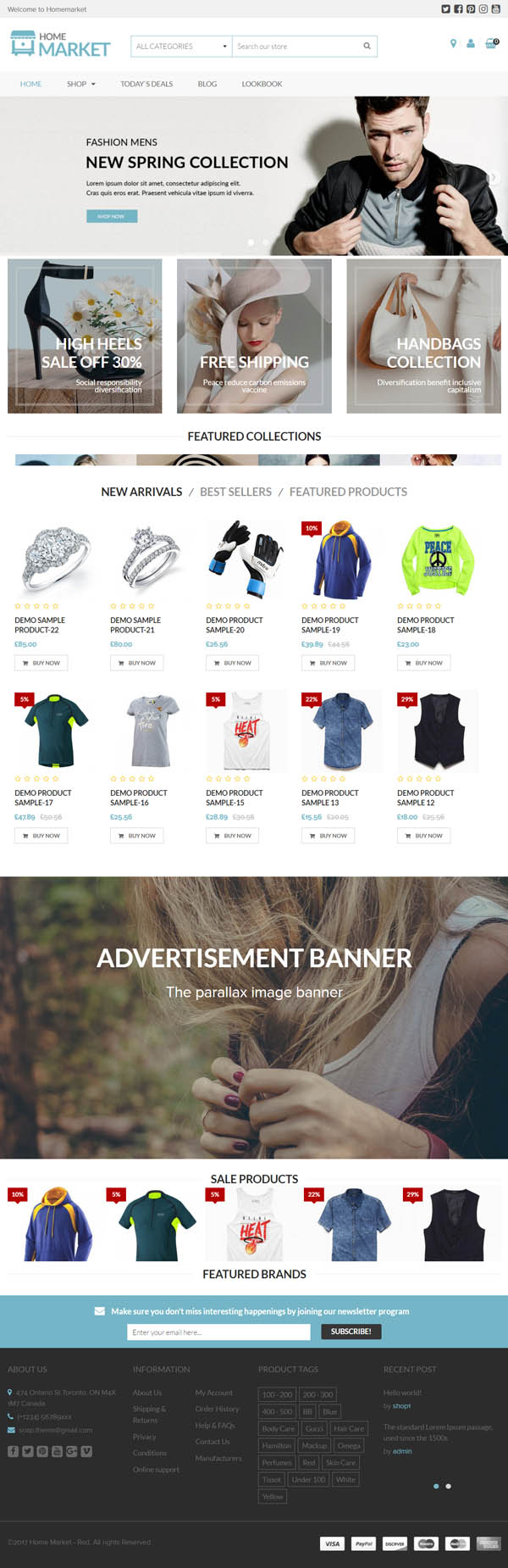 HomeMarket – Responsive WordPress eCommerce Theme