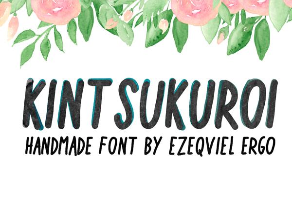 Kintsukuroi Free Font