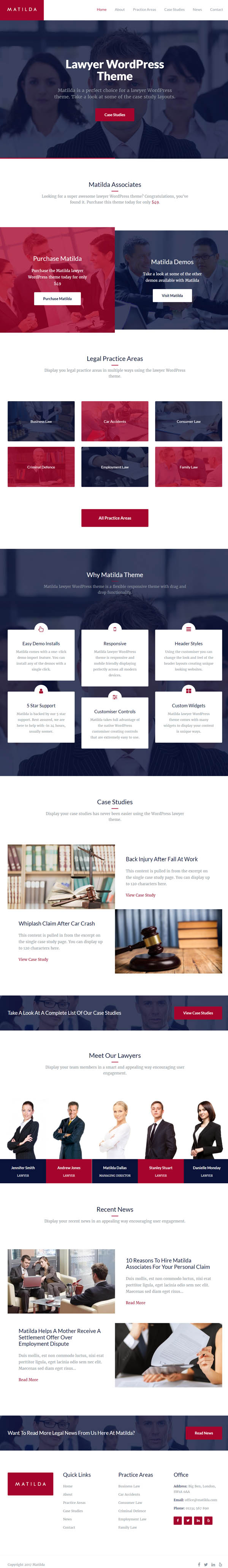 Matilda – Multipurpose WordPress Business Theme