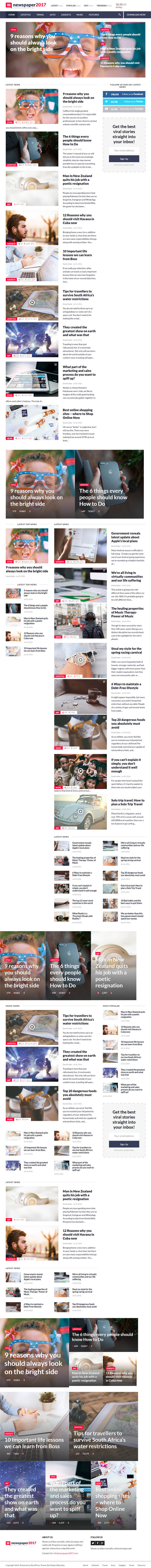 NewsPaper2017 – WordPress Theme for Blog and Magazine