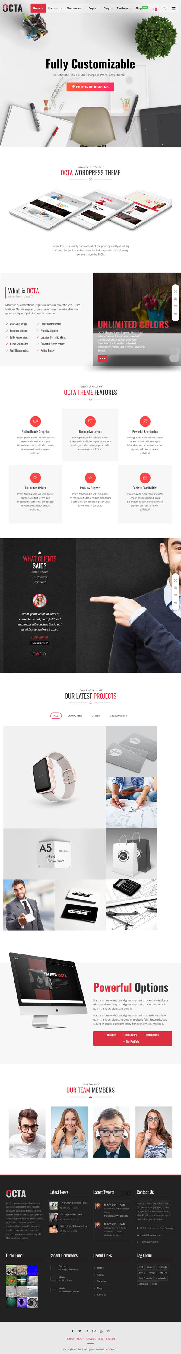 OCTA – Multipurpose WordPress Theme