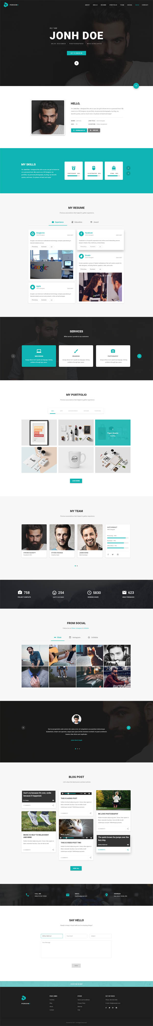 PersonX – Material Design Personal Theme