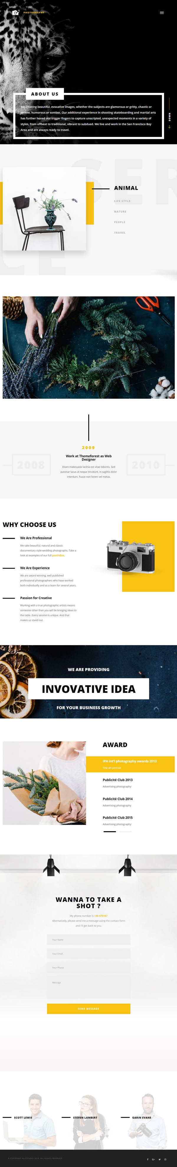 Cephenus - Photography, Portfolio & Gallery WordPress Theme