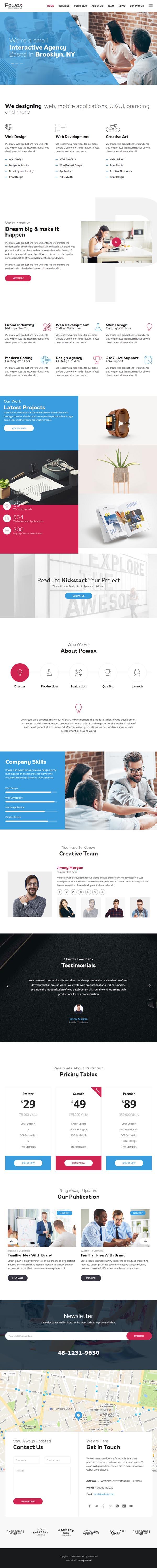 Powax – One Page Parallax WordPress Theme