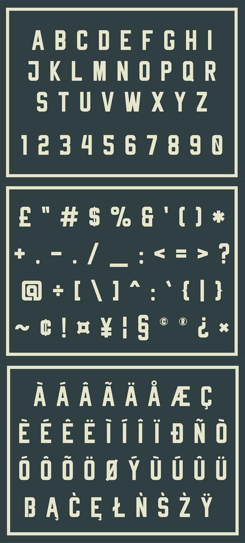 Rheiborn Sans Font Letters