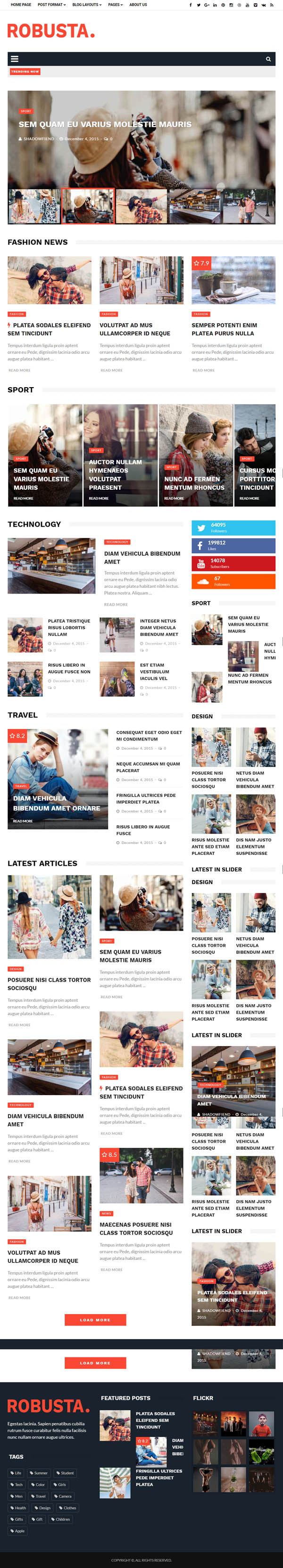 Robusta - Responsive WordPress Magazine and Blog Theme